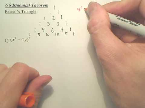 6.8a1 Binomial Theorem - Algebra 2