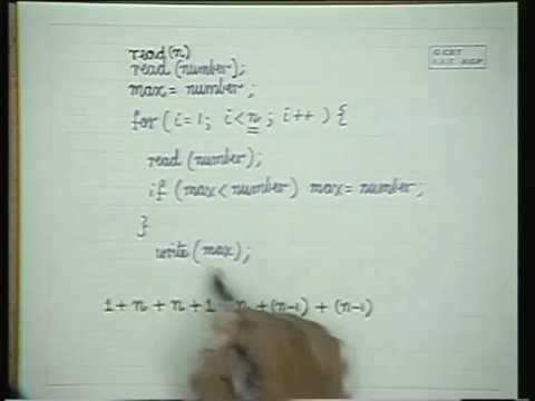 Lec-18 Complexity(Efficiency) of Algorithms