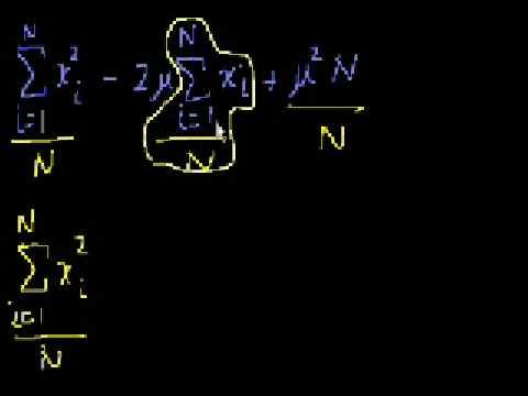 Statistics: Alternate Variance Formulas