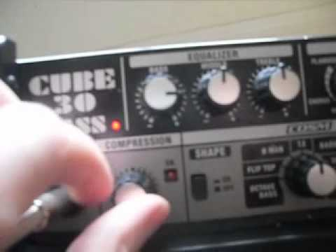 Video log # 2  Roland cube 30 Bass amp overview.
