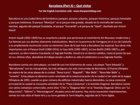 Spanish English Parallel Texts Barcelona (Part 4) Qué visitar