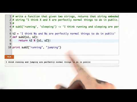 Substituting Multiple Strings Solution - CS253 Unit 2 - Udacity