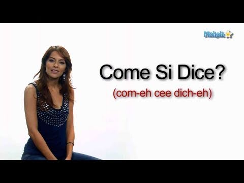 """How to Ask """"How Do You Say..."""" in Italian"""