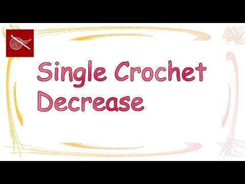 Art of Crochet by Teresa - Crochet Tip - Single Crochet Decrease using Front Loop Only