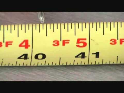 Tips on reading a tape measure