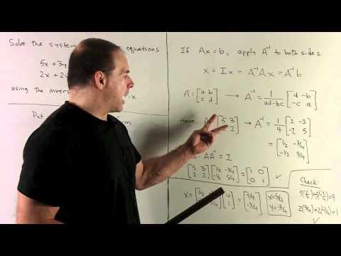 Solving a 2x2 SLE Using a Matrix Inverse