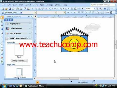Publisher Tutorial Ordering and Grouping Objects Microsoft Training Lesson 6.7