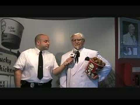 Special Agent Ryan Butkowski interviews Colonel Sanders