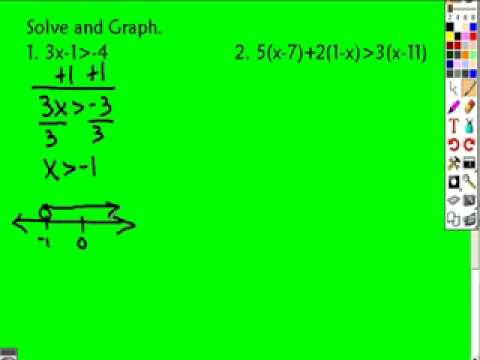 21 Solving Inequalities in One Variable