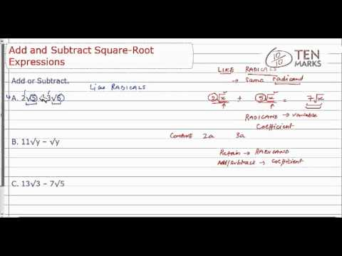 Add and Subtract Square-Root Expressions.