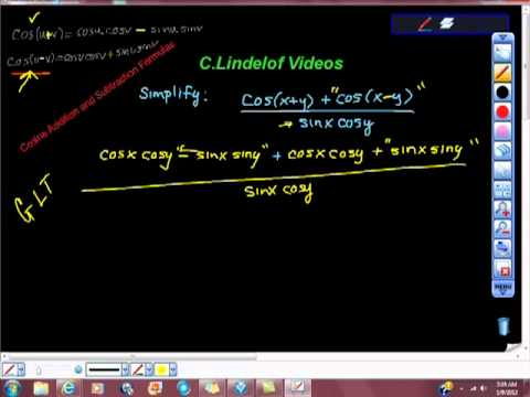Simplify Trigonometry Cosine Addition and Subtraction Formulas