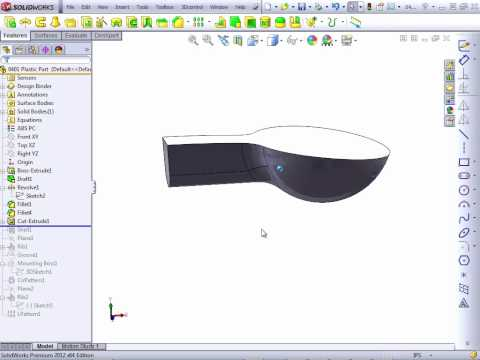 Solidworks 2012 Tutorial | Plastic Features Intro