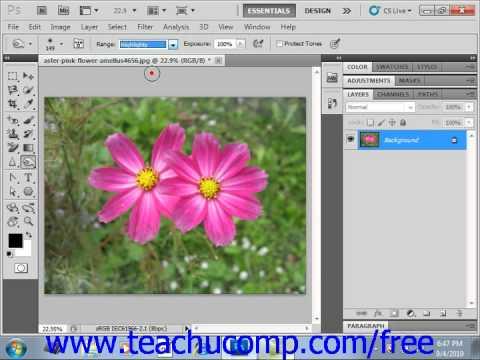 Photoshop CS5 Tutorial Using the Dodge Tool & the Brim Tool Adobe Training Lesson 14.8