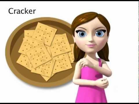 Cracker - ASL sign for Cracker - animated