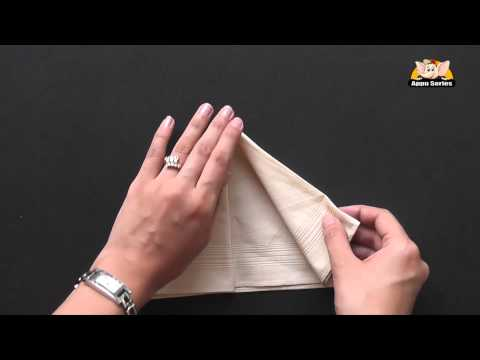 How to fold an Arrow Napkin