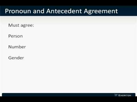 GMAT Prep - Verbal - Sentence Correction - Pronoun and Antecedent Agreement by Knewton