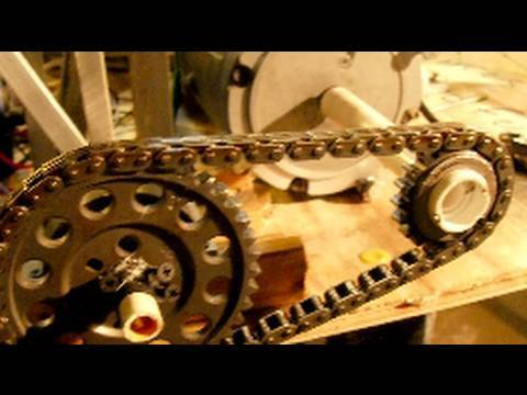 Steam Engine 274 Volts DC no load, Larger Steam Engine DC Generator Cam Gear Timing Chain