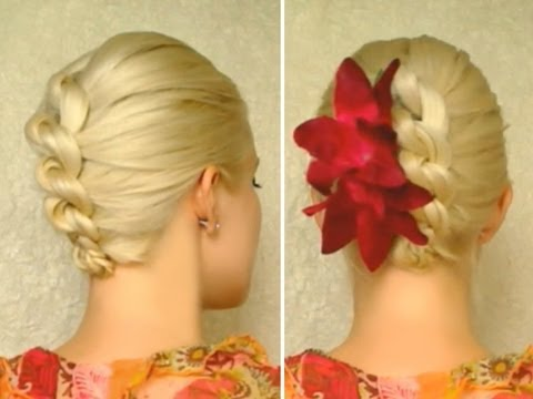 Knot braid prom hairstyles for medium long hair tutorial Top wedding updo hairstyles