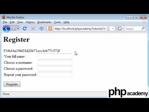 PHP Tutorials: Register & Login: User registration (Part 2)