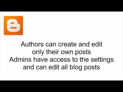 Choose who can read and edit your blog