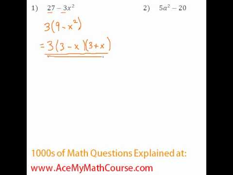 Polynomials - Factoring Completely #1-2