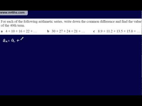 (1) Core 1 Arithmetic Sequences & Series (Brief intro & formulae)