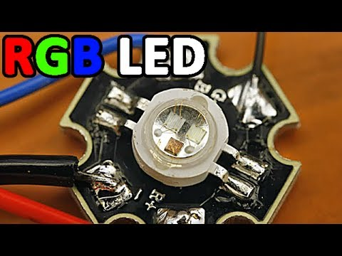 RGB LED under microscope