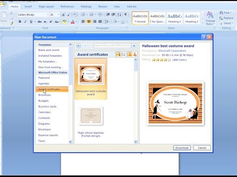 Word 2007: Creating a New Document
