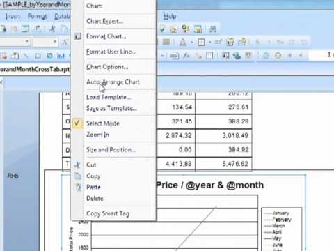 Crystal Reports 2008 - Charts based on Crosstabs - Tutorial Video