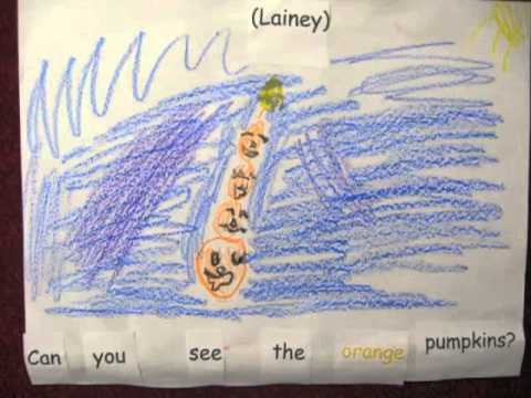 Can you see the orange _____?       October 2011 predictable sentence book