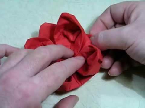 Origami Napkin Flower