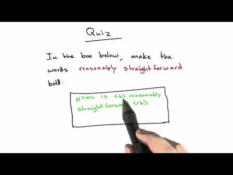 Bold Tag Solution - CS253 Unit 1 - Udacity