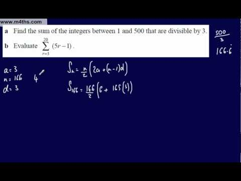 (18) Core 1 Arithmetic Sequences & Series (More summation)