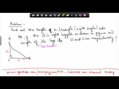 121-Mathematics Class VII - Right angled Triangles - Problem 1