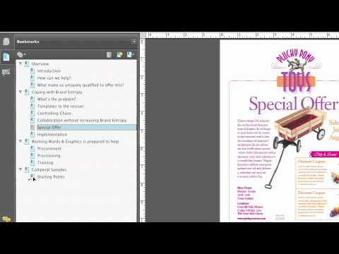 Total Training for Adobe Acrobat 9 Pro Ch 2.NAVIGATING PDFS L4. Creating & Managing Bookmarks