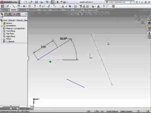 Solidwords 2011 - Sketching Lines - Construction Lines Tutorial