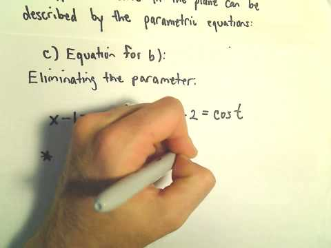 Parametric Equations - Some basic questions