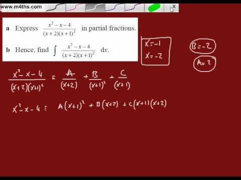 (v) Partial Fractions to Integrate (repeated linear factor)