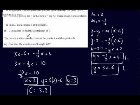 (Q8) Core 1 Mock Paper Edexcel