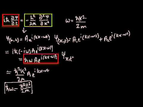Quantum Mechanics 012 : Schrodinger's equation
