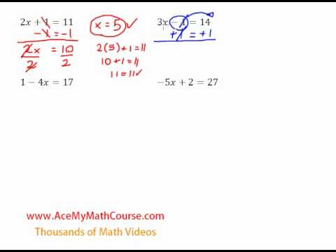 Two-Step Equations- Introduction