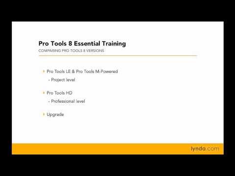 Pro Tools: Exploring the different versions of Pro Tools | lynda.com