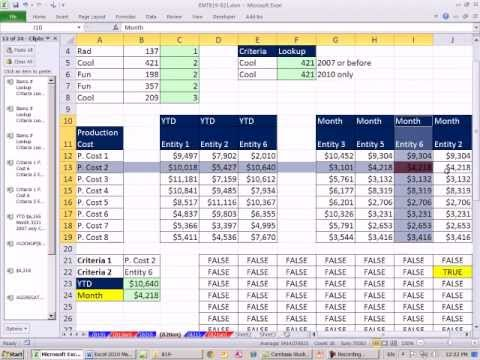 Excel 2010 Magic Trick 820: Conditional Formatting With Array Formulas!!??