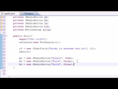 Java Programming Tutorial - 66 - JRadioButton