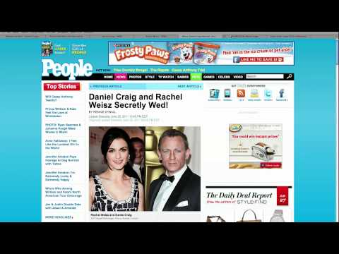 Secret Wedding for Daniel Craig and Rachel Weisz