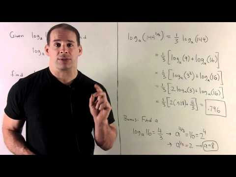 Evaluating Logarithms 2 - Solving for the Base