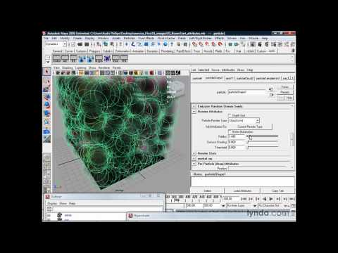 Maya: Setting particle attributes | lynda.com