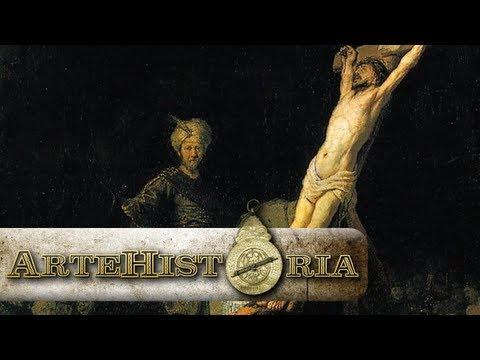 La erección de la cruz, de Rembrandt