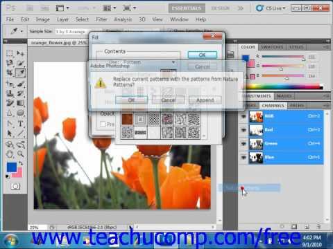Photoshop CS5 Tutorial Using Patterns Adobe Training Lesson 8.5