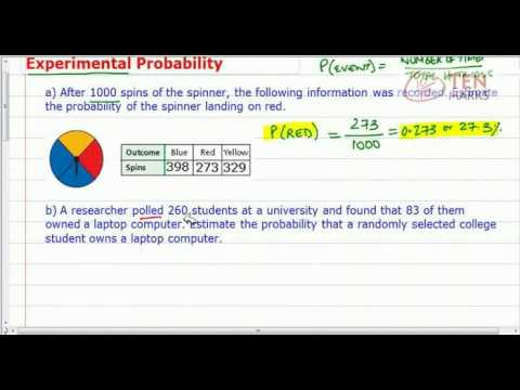 Probability Based on Experimental Data
